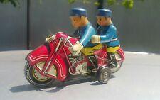 VINTAGE POLICE MF 162 MOTORCYCLE ORIGINAL 60's TIN TOY FRICTION CHINA WORKS