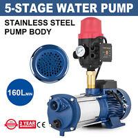 Giantz Multi Stage Water Pump High Pressure Rain Tank Garden Farm Irrigation