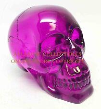 Halloween Decorative Purple Crystal Skull Figurine Statue Translucent Acrylics