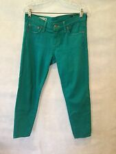 """RED ENGINE VIntage """"Redhot"""" Signature Rise Crop Jeans Turquoise 28w X 26L"""
