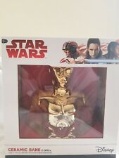 Disney Star Wars C-3PO CERAMIC BANK! NEW IN BOX
