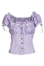 Damen-Trachtenblusen in Größe 36 aus Polyester mit Kurzarm