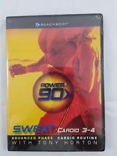 Power 90 Sweat Cardio 3-4 Advanced Tony Horton NEW SEALED BEACHBODY FREE SHIP US