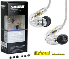 Shure SE215-CL Sound Isolating In-ear Monitor Earphones Clear On Sale!!