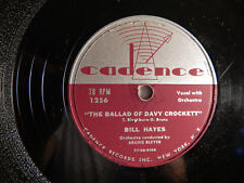 Bill Hayes The Ballad of Davy Crockett / Farewell 1955 Cadence 1256 Shellac 78
