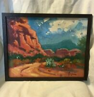 "Susan Greaves Original Oil on Board Painting, Landscape, Fine Art, 11"" x 14"""