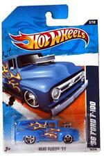 2011 Hot Wheels #93 Heat Fleet '56 Ford F-100 blue
