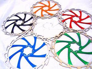 Alligator Windcutter Mountain & E Bike Disc Brake Rotors 203mm 6 colours +bolts