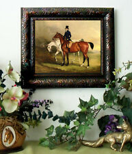 Ferneley TWO HORSES AND GROOM  Art Print Antique Style Framed 11X13 Horse Pony