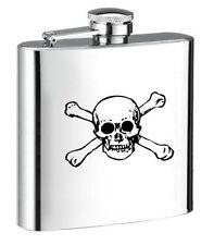 Personalised Steel Hip Flask for Spirit Wine Skull Hf10