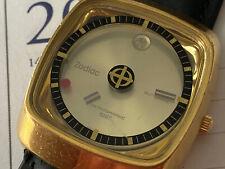 Vintage Zodiac Astrographic Automatic SST Date Wristwatch Looks & Runs Great 21J