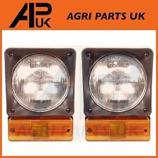 JCB 2CX 3CX 4CX Front Headlight PAIR Head Lamp Light Unit Indicator COMPLETE SET