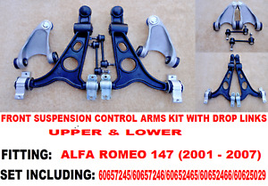 ALFA ROMEO 147 FRONT UPPER LOWER WISHBONE SUSPENSION ARMS KIT HD ARMS