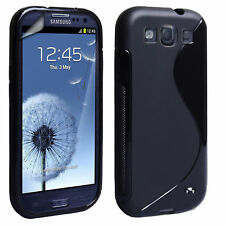 Black Fitted Cases/Skins for Samsung Galaxy S3