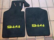 Porsche 914 Tapis de sol en moquette noir/orange