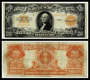 1922 $20 ~~ LARGE SIZE GOLD CERTIFICATE~VERY FINE