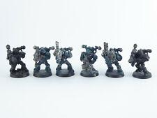 6 x Havocs der Chaos Space Marines - teilweise bemalt Metall -