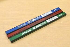 Pencils For Carpenters Joiners Soft Medium Hard High Quality By Rexel Blackedge