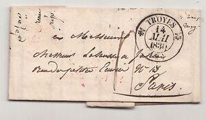 Vorphila Brief Troyes nach Paris 1830 France Frankreich ! (A1606
