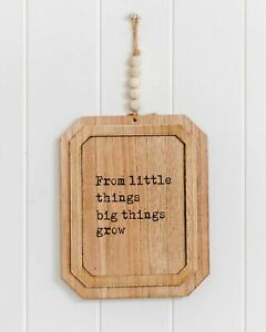 Inspirational Quotes Wall Art Wood Wall Art  From Little Things Big Things Grow