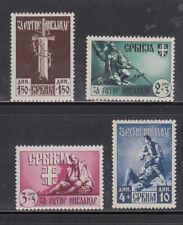Serbien, Nr. 86-89, postfrisch