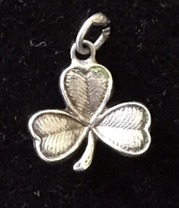 Sterling Silver Bracelet Charm Lucky Shamrock Enamel Gone *SALE*