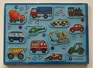Vehicles 12 Piece Children's Wooden Jigsaw Puzzle