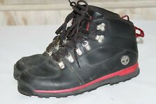 Timberland Men's Black Red Boots High Top Casual Lace Up Leather - US 9 M