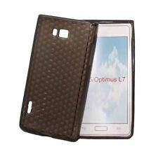 Silikon Case für LG P700 Optimus L7 in transparent schwarz Etui Hülle Cover