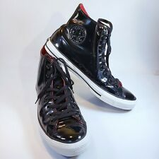 Converse All Star Chuck Taylor Black Patent Leather High Top Shoes 111131 Unisex