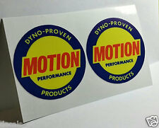 Pair of BALDWIN MOTION PERFORMANCE Vintage Style DECALS, Vinyl STICKERS
