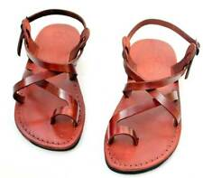 CAMEL Brown Leather Greek Roman Jesus Sandals from the Holy Land EU sizes 36-46