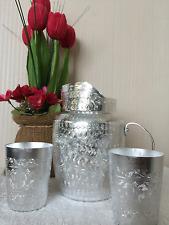 Vintage Thai-Style Aluminium Liquid Jug (3 pieces: set)