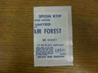 05/01/1980 Ticket: Leeds United v Nottingham Forest [FA Cup] (The Ticket Is Not