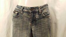 NOBO Jeans Acid Washed Stretch Denim SIZE 11 Straight Leg 5 Pocket  EUC + GIFT