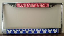 Mickey Mouse Song Chrome License Plate Frame #2