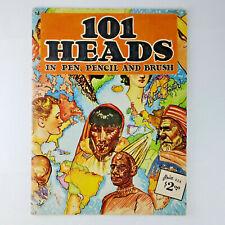 Vintage Walter Foster Art Instruction Book #16 101 HEADS in Pen, Pencil & Brush