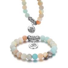 Natural Stone Beads Yoga Pendant 3d Rune Bangles Cuff Wristband Bracelets