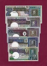 Portugal Angola COMPLETE SET 20 + 50 + 100 + 500 + 1000 ESCUDOS 1973 VF-UNC
