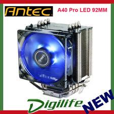 Antec A40 Pro Blue LED 92MM CPU Cooler Heatsink Fan Intel 1151 AMD Ryzen AM4