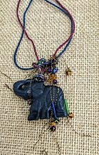 Zen bohochic meditation Buddha vibes Elephant Agate chunky necklace Crueltyfree