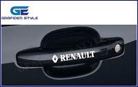 1 SET (4 stück) - RENAULT - Türgriff  Auto Aufkleber - Car Sticker - Decal !!