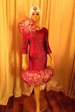 Drag Queen dress  Pride show cabaret, theatre  pink sequin with wired ruffles
