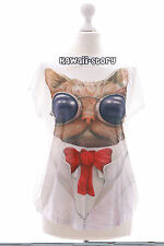 TP-15 Cool Cat Bix Cute Print short Sleeve T-Shirt Lolita Harajuku Japanese