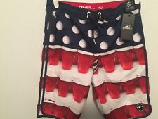 O'Neill Beer Pong Shorts 28 Fourth 4th of July Mens Ping-Pong Balls Included $45