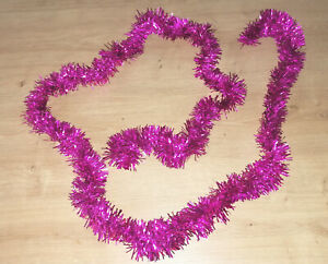 Guirlande noël rose foncé 2 m