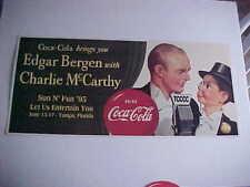 Edgar Bergen/Charlie McCarthy Cardboard Sign