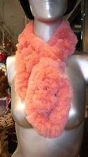 GORGEOUS Coral PINK Fur Scarf Warm Youthful Stylish Was: $295 Now: $110. Sale!