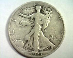 1920 WALKING LIBERTY HALF VERY GOOD+ VG+ NICE ORIGINAL COIN BOBS COINS FAST SHIP