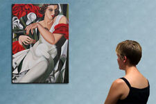 "39"" - REMEMBER LEMPICKA_____________ ORIGINAL oil on canvas PAINTING by ANNA !!!"